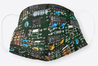 PC Electronics Circuit Board Cloth Face Mask