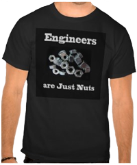 Engineers are Just Nuts Black T-Shirt. Find this and more ...