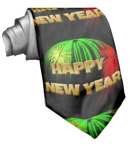 Happy New Year Tie. Like it? Click for more detail.