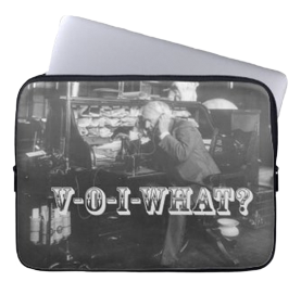 Thomas Edison Hears About VoIP Laptop Sleeve. Get one for yourself now...